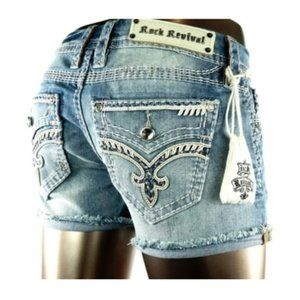 New! Women's Rock Revival Shorts Size 29
